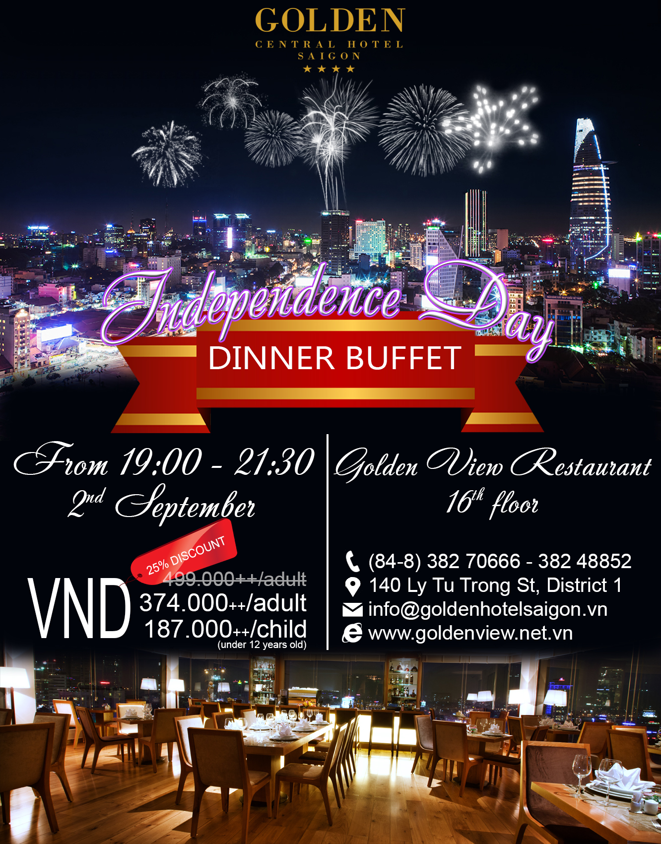 Independence Day Dinner Buffet
